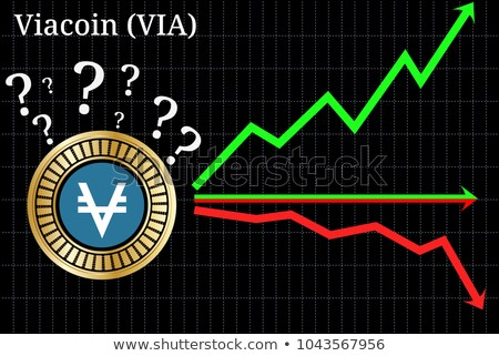 viacoin crypto currency vector via symbol stock photo © tashatuvango