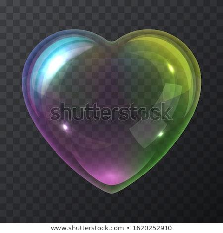 Kabarcıklı kalp örnek yalıtılmış soyut Retro Stok fotoğraf © get4net