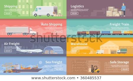 portu · magazynu · banner · wektora · ładunku - zdjęcia stock © studioworkstock