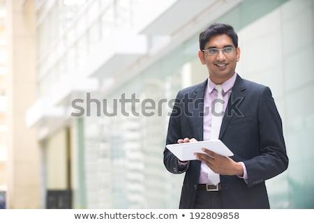 Stockfoto: Indian · zakenman · koffiekopje · handen · corporate