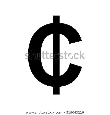 cent · felirat · 3D · citromsárga · pénz · háttér - stock fotó © paviem
