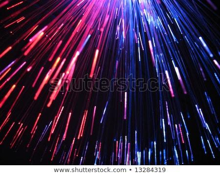 Selektiven Fokus glänzend rosa Faser Optik abstrakten Stock foto © LightFieldStudios