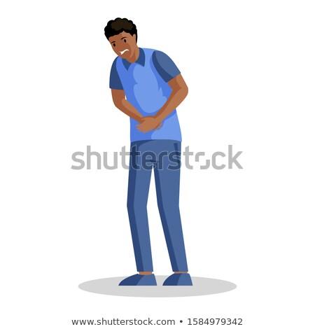 african american man suffering from constipation stock photo © rastudio