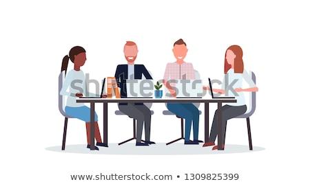 cinquième · gens · d'affaires · bureau · espace · souriant · affaires - photo stock © is2