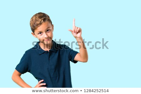 Kid Boy Counting By Hands Stock photo © lenm