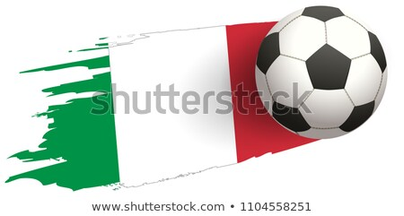Soccer ball strike flight against background of italy flag Stock photo © orensila