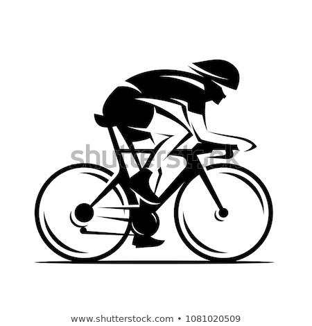 велосипед гонка велосипедист Велосипеды спортивных вектора Сток-фото © popaukropa