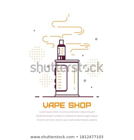 Vector illustratie type elektronische sigaret Stockfoto © TRIKONA
