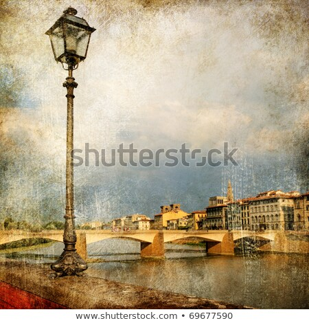Vintage travel card with Florence Stock photo © Artspace