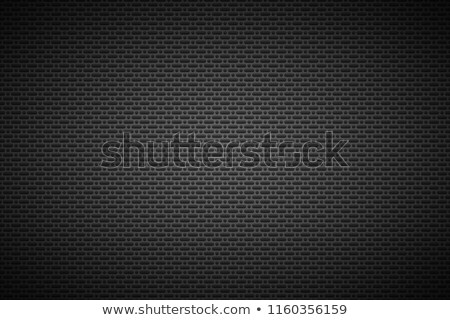 Perforated black metallic background, metal texture, simple texnology illustration, circle, rounded  Stock photo © kurkalukas