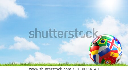Stock photo: Brazil flag background for russian soccer event