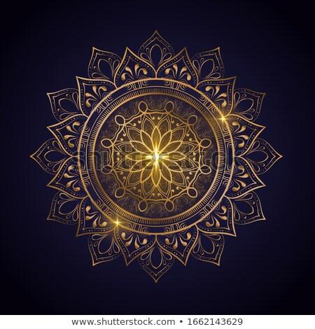 Hermosa lujo mandala decoración patrón yoga Foto stock © SArts