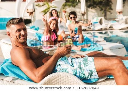 güzel · çocuklar · havuz · mutlu · spor · çocuk - stok fotoğraf © deandrobot