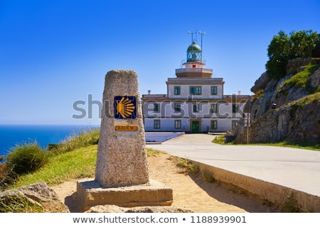 Finisterre lighthouse at the end of Saint James Spain Stock photo © lunamarina