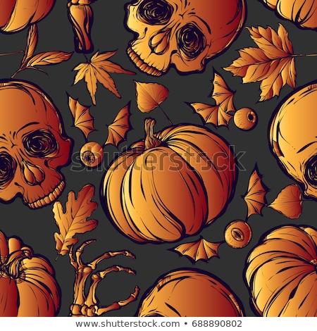 crâne · modèle · halloween · vecteur · eps8 · illustration - photo stock © voysla
