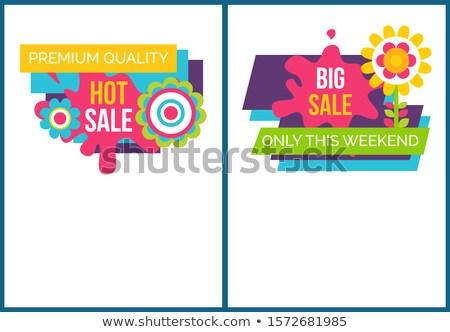 Vásár prémium minőség promo címkék online Stock fotó © robuart