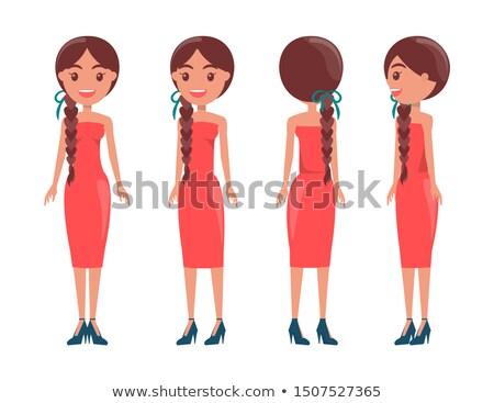 Stock fotó: Csinos · nők · elegáns · ruhák · összes · elegáns