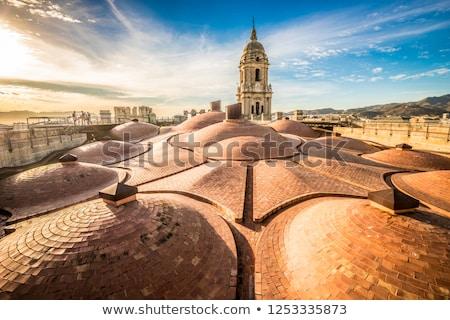 Malaga katedral şehir mavi ufuk çizgisi mimari Stok fotoğraf © benkrut