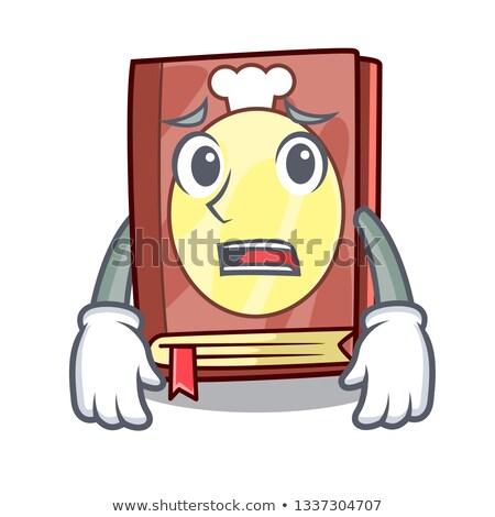 Miedo Cartoon libro de cocina ilustración mirando libro Foto stock © cthoman