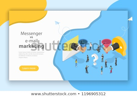 Stockfoto: E-mail · vs · boodschapper · marketing · isometrische · vector