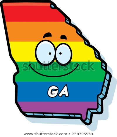Cartoon Georgia matrimonio gay illustrazione sorridere Rainbow Foto d'archivio © cthoman
