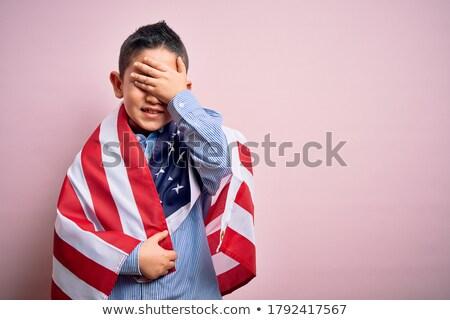 Angry Patriotic Boy Stock photo © cthoman