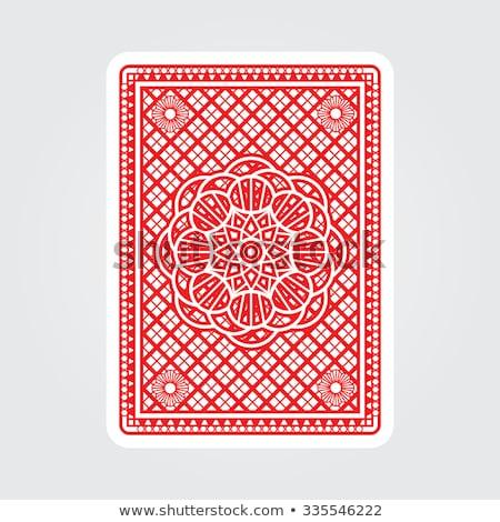 Playing Card Reverse Back in Black and White Stock photo © Krisdog