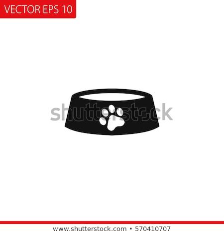 Animal bowl flat icon Stock photo © smoki