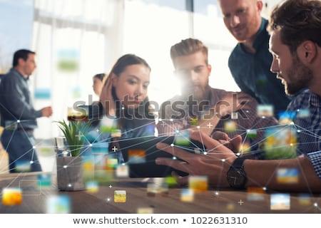 Işadamı ofis Internet ağ başlangıç şirket Stok fotoğraf © alphaspirit
