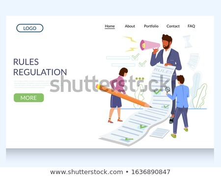 business rule concept landing page stock photo © rastudio