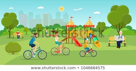 Freelancer Working in Park Vector Illustration Stock photo © robuart