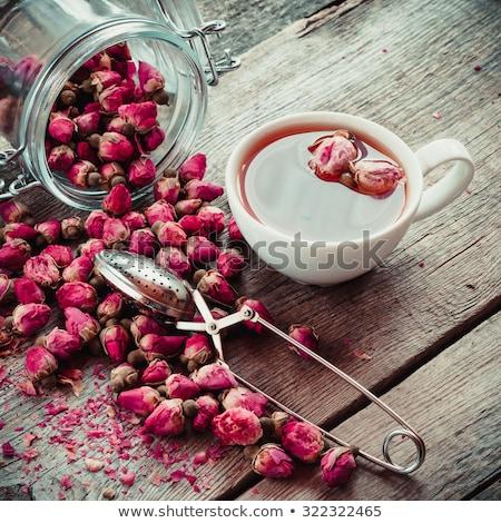 Piccolo asciugare rose tè rosa sfondo Foto d'archivio © grafvision