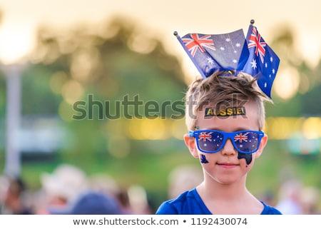 Celebrar Austrália australiano férias turismo mulher Foto stock © lovleah