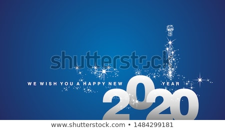 wishes of happy new year merry christmas lettering stock photo © robuart