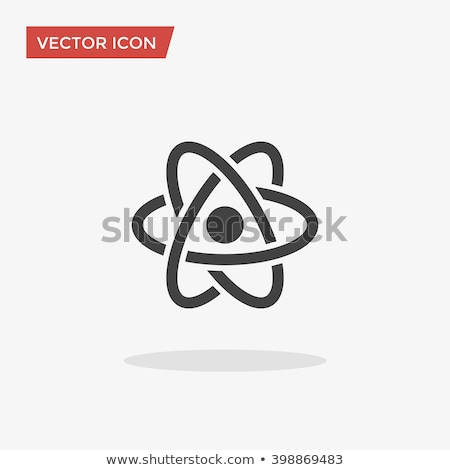 Kern atoom vector icon logo symbool Stockfoto © blaskorizov