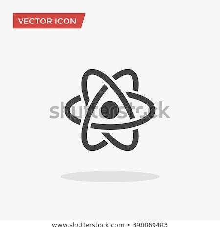 átomo · vetor · ícone · branco · cinza · gradiente - foto stock © blaskorizov