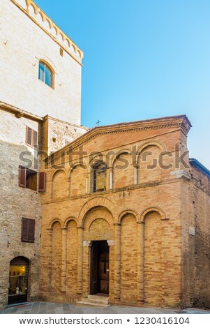 Chiesa San Bartolo in San Gimignano in Tuscany, Italy Stock photo © boggy