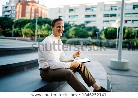 zakenman · straat · koffie · business · kantoor - stockfoto © deandrobot