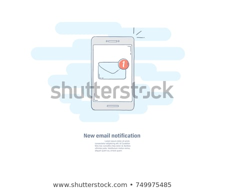 New email on mobile phone hand drawn outline doodle icon. Stock photo © RAStudio