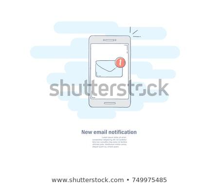 conversar · vetor · telefone · móvel · tela · novo - foto stock © rastudio