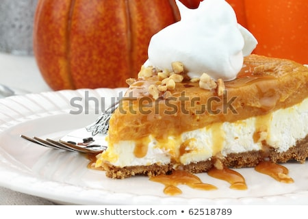 double layer no bake pumpkin pie stock photo © stephaniefrey