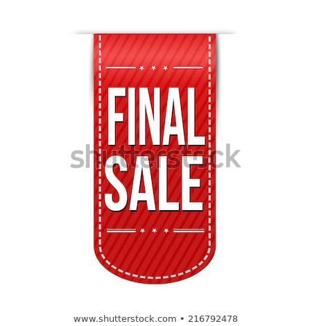 ストックフォト: ファイナル · 販売 · ポスター · 星 · 勾配