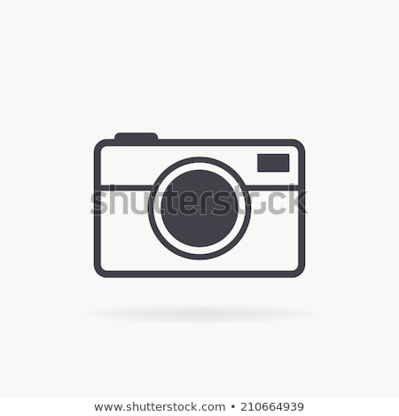 Stock photo: vector square retro camera icon