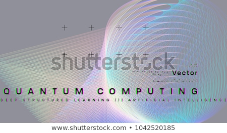 Blockchain technology artificial intelligence concept. Stock photo © RAStudio