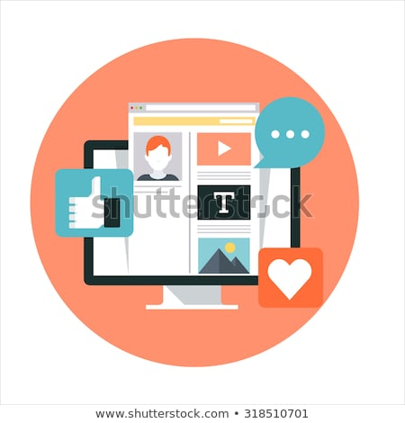 social · media · beheer · landing · pagina · sjabloon · bedrijf - stockfoto © robuart