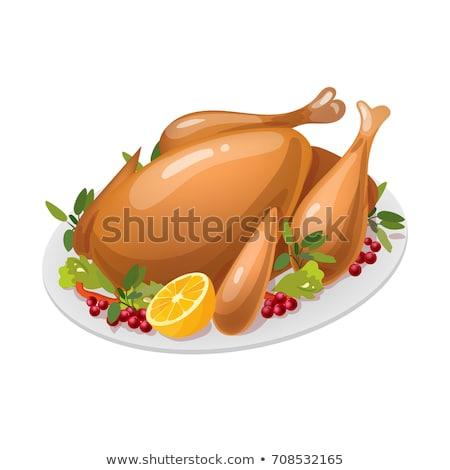 Madár baromfi főtt étel hálaadás vektor Stock fotó © robuart