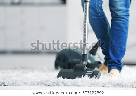 主婦 真空掃除機 ルーム 家 背景 青 ストックフォト © Nobilior