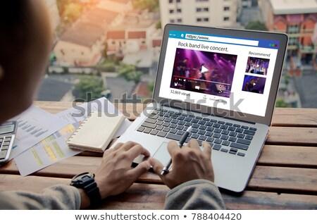 Imprenditore firma sito laptop mano ufficio Foto d'archivio © AndreyPopov