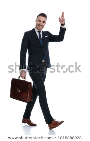 side view of a welcoming young businessman walking  Stock photo © feedough