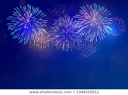 colorful fireworks on night sky background vector illustration stock photo © andrei_